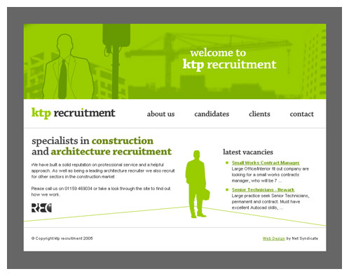 Architecture Recruitment Company Screenshot