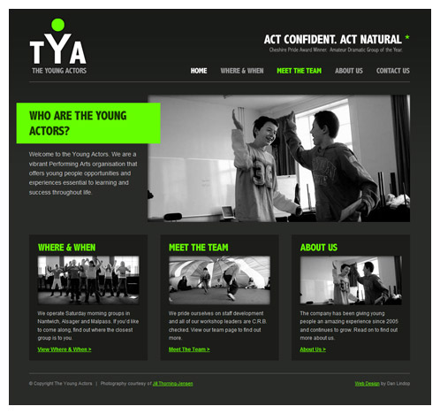 The Young Actors Website